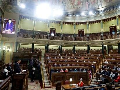 Comparecencia del presidente del Gobierno, Pedro Sánchez, el pasado 30 de junio en el Congreso para explicar los indultos a los líderes independentistas.