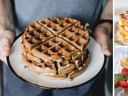Prepara todo tipo de recetas de waffles con esta wafflera Cuisinart de acero inoxidable.
