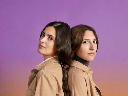 Marta Cillán y Sara Giménez, conocidas como Devermut, en Barcelona.