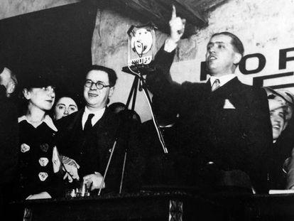 José Calvo Sotelo, durante un acto público.
