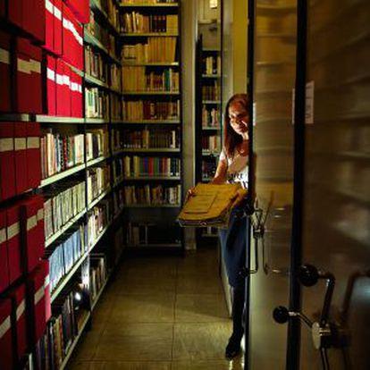 El archivo de la SGAE, que contiene alrededor de 12.000 zarzuelas y35.000 obras sinfónicas, entreotras joyas.
