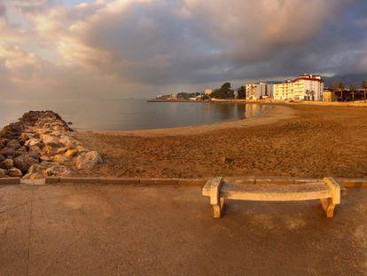 Una playa de Sant Carles de la Ràpita.