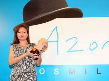 Pepa Roma, ganadora del Premio Azorín en 2011.