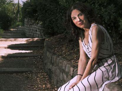 Blanca Lacasa en las Escalinatas de las Descargas en Madrid.
