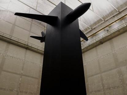 Vista de la instalación 'Blind', 2021, de Maurizio Cattelan.