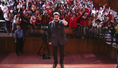 Nicolás Maduro el miércoles en Caracas.