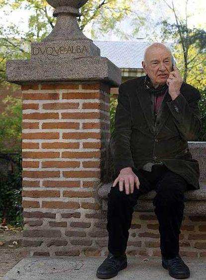Edgar Morin, el jueves en la Residencia de Estudiantes de Madrid.