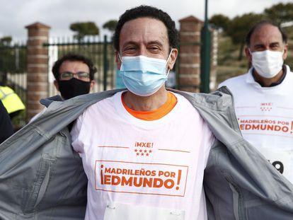 MADRID, 11/04/2021.- El candidato de Ciudadanos a la Comunidad de Madrid, Edmundo Bal, tras participar este domingo en la X carrera popular de Hortaleza. EFE/Javier López