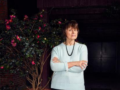 Catherine Millet, en su casa en París.