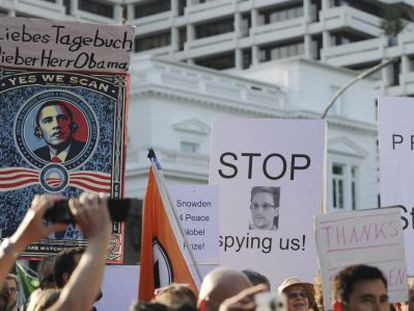 Protestas contra espionaje en Berlín