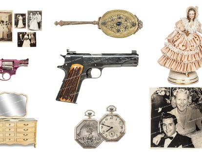 Algunos de los objetos de Al Capone que han salido a subasta por la casa Witherells, en Sacramento.