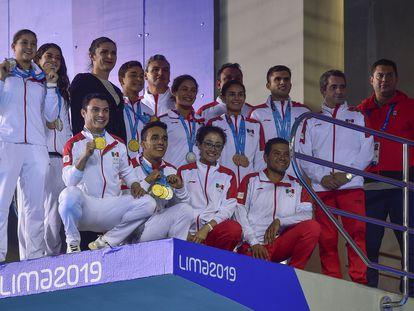 El equipo mexicano de clavados que participó en los Juegos Panamericanos de Lima 2019.