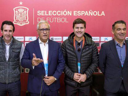 Emery, Gregorio Manzano, Pochettino y Luis García.