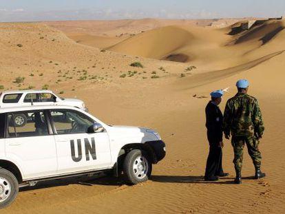 Dos oficiales de la misión de la ONU en el Sáhara Occidental (Minurso).