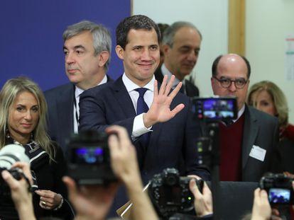 Juan Guaidó, en el Parlamento Europeo en enero de 2020.