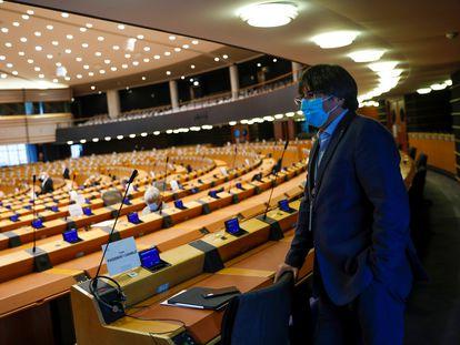 Carles Puigdemont, el lunes, en el Parlamento Europeo.