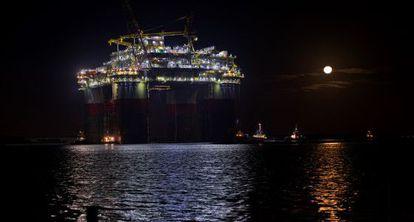 Una plataforma de Chevron en las costas de Texas en el Golfo de México.