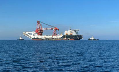 El barco ruso de tendido de tuberías 'Fortuna', el pasado septiembre cerca de Wismar (Alemania).