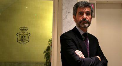 Carlos Lesmes, el pasado lunes a su llegada al CGPJ.