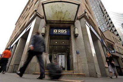 Oficina del Royal Bank of Scotland (RBS) en Londres.