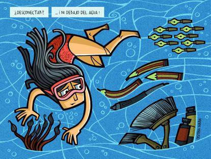 Ilustración de Cristina Durán para la serie 'Viñetas al sol'.