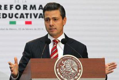 Peña Nieto durante la promulgación de la reforma educativa.
