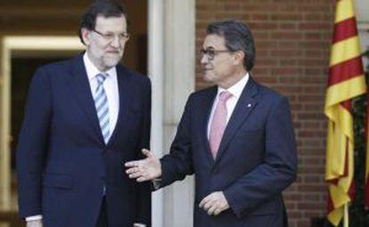 Rajoy y Artur Mas en 2014.