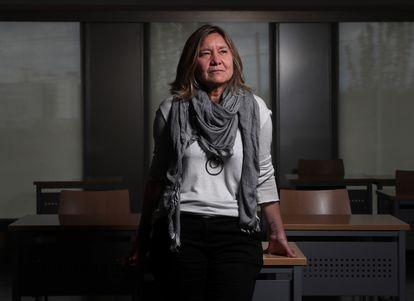 Clara Martínez, directora de la Cátedra Santander de Derechos del Niño, este jueves en la Universidad Pontificia de Comillas, en Madrid.