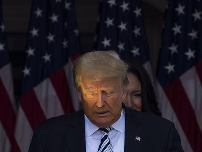 El expresidente de EE UU Donald Trump, el pasado 7 de julio en su club de golf de Bedminster (Nueva Jersey).
