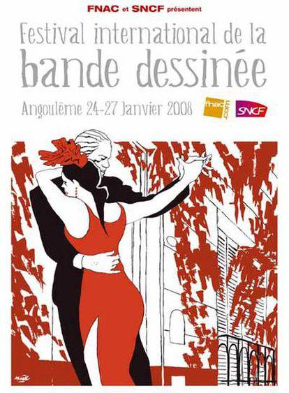 Cartel oficial del festival de cómic de Angulema