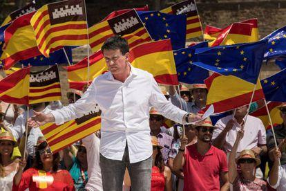 Manuel Valls participa en el acto de la Plataforma España Ciudadana en Palma de Mallorca.