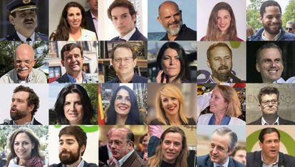 Los 24 diputados de VOX que entran al Congreso.