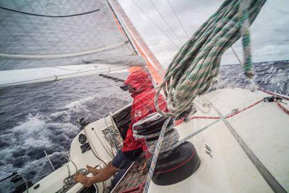 Guillermo Cervera, a bordo del Isabel, entre Haití y Cuba.
