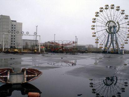 La noria abandonada (y jamás estrenada) de Prípiat es el gran símbolo del desastre de Chernóbil, que en 1986 vació una ciudad entera.