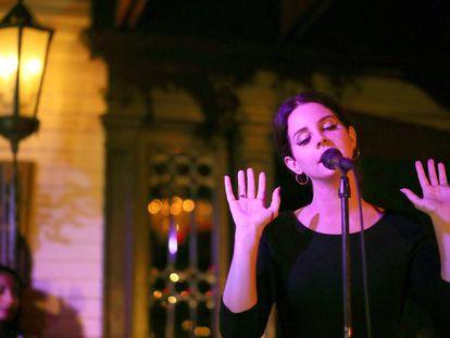 Lana del Rey presentando su último disco en Los Angeles el pasado mes de julio