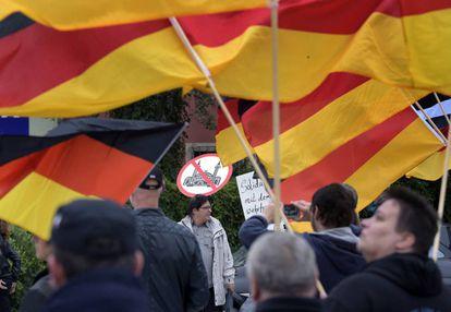 Manifestación xenófoba en Bautzen, el este de Alemania