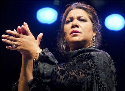 La Macanita, en su actuación del pasado mes de octubre en el Hotel Triana de Sevilla, en el marco de la XV Bienal de Flamenco.