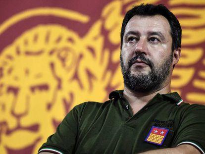 Matteo Salvini el pasado viernes en Padua. En vídeo, declaraciones del líder de la Liga el pasado 22 de agosto.