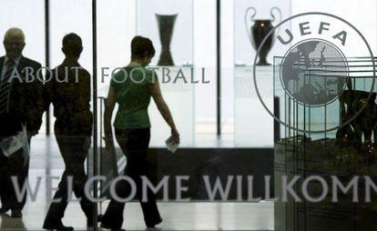 Imagen de archivo de la sede de la UEFA.