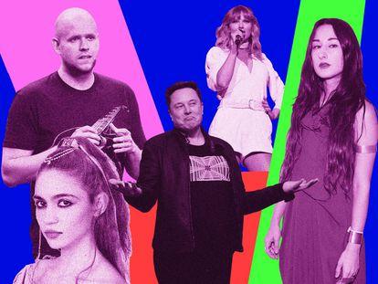 A pesar de estas polémicas por redes sociales, Zola Jesus (a la derecha en la imagen) es capaz de sacar tiempo para continuar con su carrera musical. La polémica con Taylor Swift, por ejemplo, llega pocas semanas después del lanzamiento de su tema 'Krunk'.