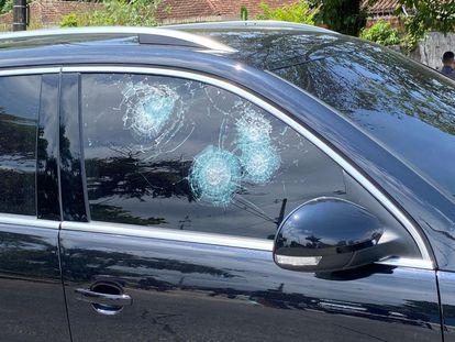 El coche en el que se encontraba Solange Freitas, candidata al Ayuntamiento de São Vicente, fue tiroteado el pasado miércoles.