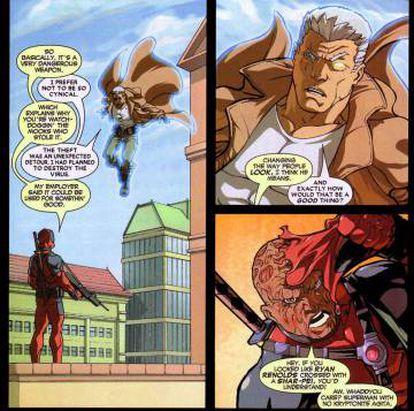 La página con la que Nicieza predijo que Ryan Reynolds sería Deadpool.