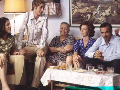 Los Alcántara, en la primera temporada de 'Cuéntame'.