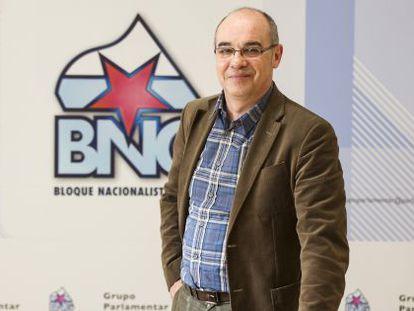Francisco Jorquera, en la oficina parlamentaria del BNG