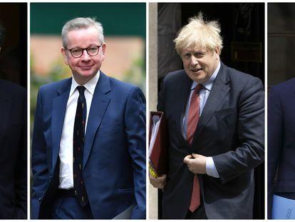 Desde la izquierda: David Cameron, Michael Gove, Boris Johsnon y George Osborne.