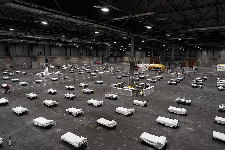 Pabellón de IFEMA en MAdrid donde serán ingresados enfermos de coronavirus. / Comunidad de Madrid