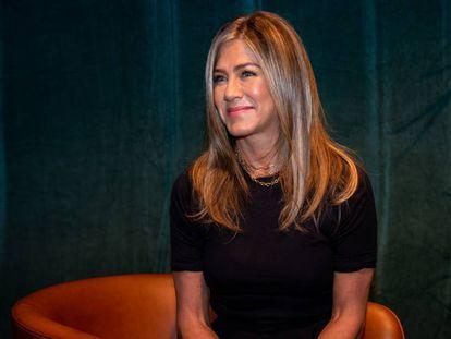 Jennifer Aniston, en una conferencia de prensa el 15 de agosto en Beverly Hills, California.