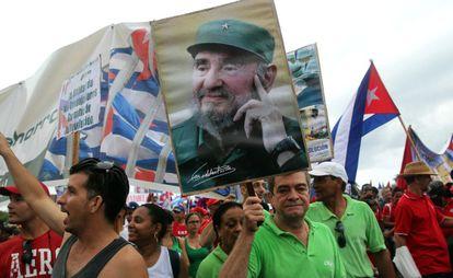 Manifestación en La Habana el 1 de mayo.