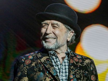 El cantante Joaquín Sabina, durante su última actuación.