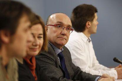 El viceconsejero de Política Lingüística, Patxi Baztarrika, durante la presentación del estudio.